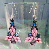 Superduo Christmas Tree Earring Pattern - Beading Pattern